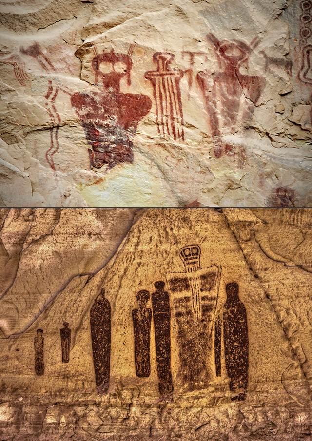 Arte rupestre en Utah, EE.UU.
