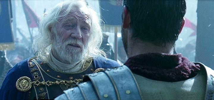 Así es interpretado el emperador Marco Aurelio en la película 'Gladiador'.
