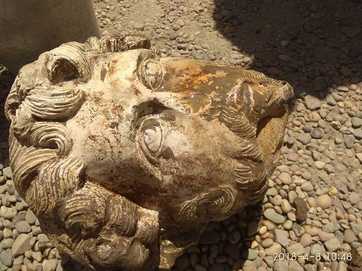 Cabeza de Marco Aurelio hallada en Asuán.