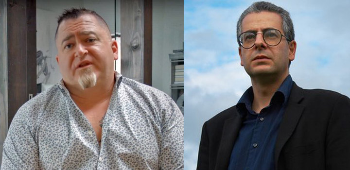Izquierda: Luis Elizondo. Derecha: Nick Pope.