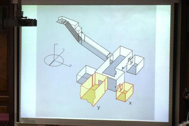 Plano de las dos presuntas cámaras ocultas —resaltadas en amarillo— en la tumba de Tutankamón.