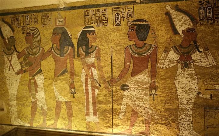 Muro norte de la cámara funeraria de Tutankamón, detrás del cual se suponía había una cámara secreta.