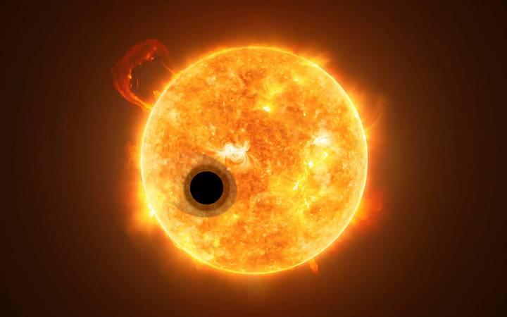 La atmósfera de WASP-107b es una de las más calientes de las que se tiene registro, alcanza una temperatura de 500 grados Celsius.
