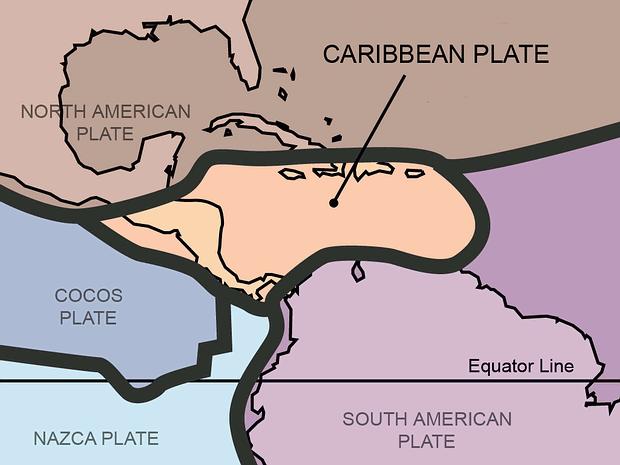 La placa de Cocos es una placa tectónica debajo del océano Pacífico de la costa occidental de América Central.